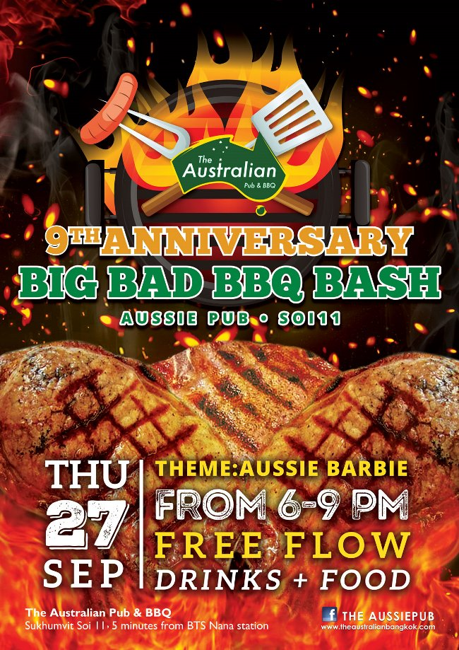 AUS 9Anniversary Poster - The Australian Pub Party Week