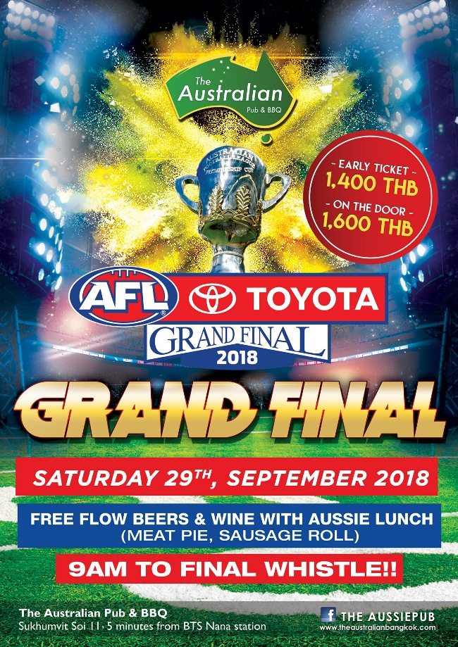 AUS AFL Grand Final POSTER 1 - The Australian Pub Party Week