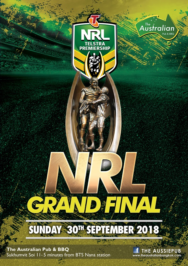 AUS NRL Grand Final Poster 1 - The Australian Pub Party Week