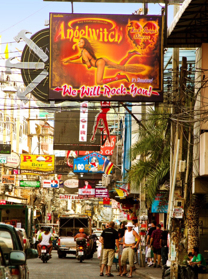 Angelwitch Pattaya New Sign - New Walking Street Sign For Angelwitch Go-Go Bar