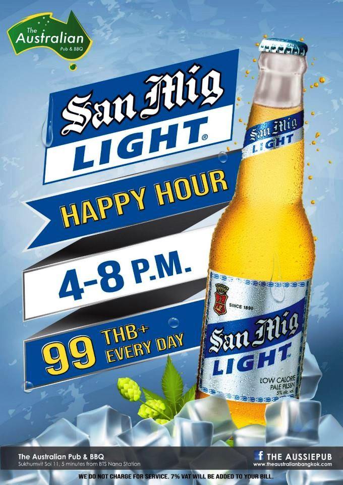 Aussie Pub Beer Promo - The Australian Pub Bangkok
