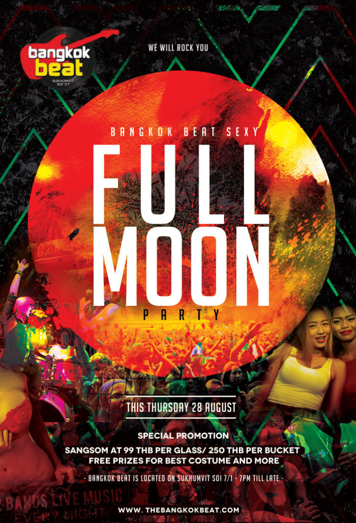 BANGKOK BEAT full moon party 697x1024 - Wild Full Moon Party In Bangkok