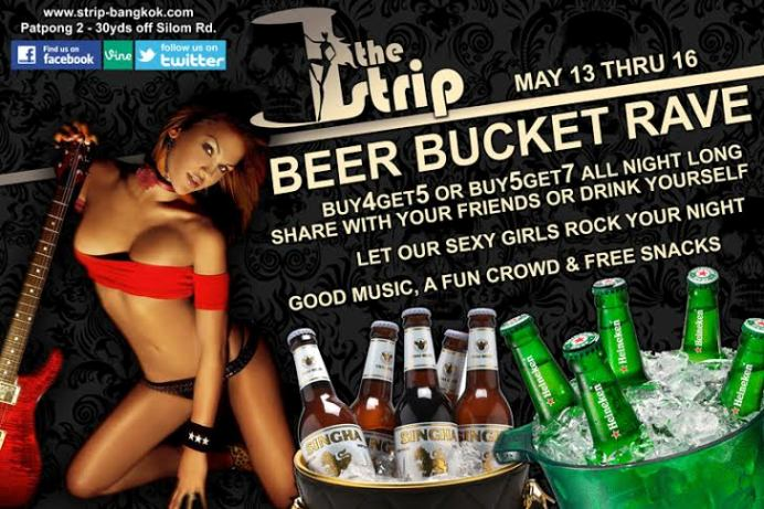 BEER BUCKET RAVE - THE STRIP HOSTS RAVE IN PATPONG