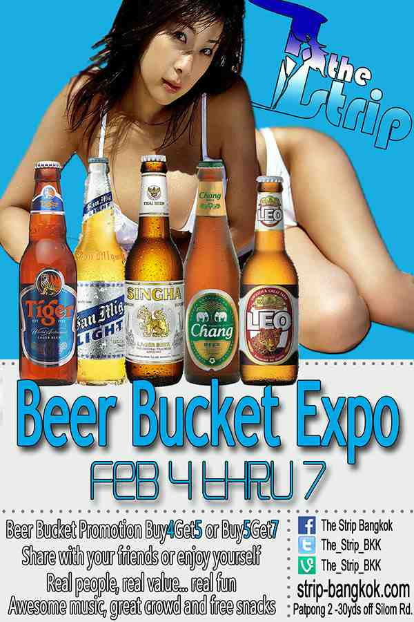 Beer Bucket Expo The Strip - BEER BUCKET EXPO IN PATPONG