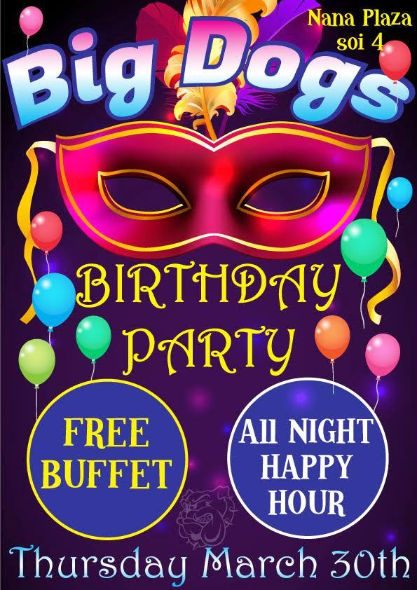 Big Dogs Birthday Bash - Big Dogs Bar Party