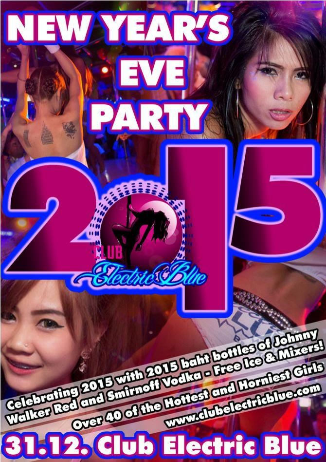 CLUB ELECTRIC BLUE NEW YEAR PARTY - NEW YEARS EVE PARTY IN PATPONG 2