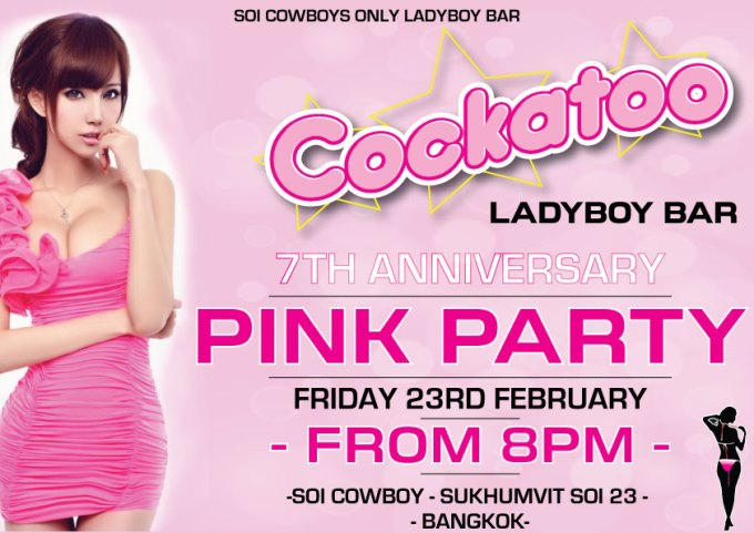 Cockatoo Bar Pink Party - Cockatoo Go-Go Bar Anniversary Party