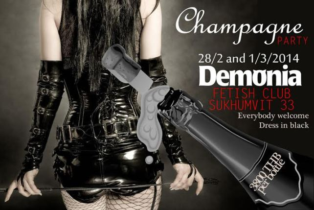 Demonia Bangkok Anniversary Party - Special Champagne Party At Demonia Fetish Club On Sukhumvit Soi 33 Bangkok