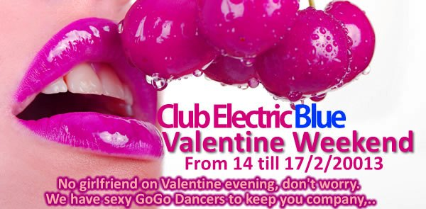 Electric Blue Valentines 20131 - Valentines Weekend Party In Patpong