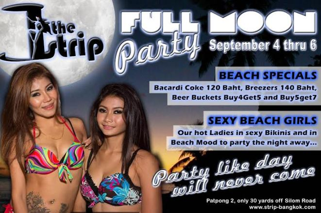 FULL MOON PARTY THE STRIP1 - Full Moon Party At The Strip GoGo Bar