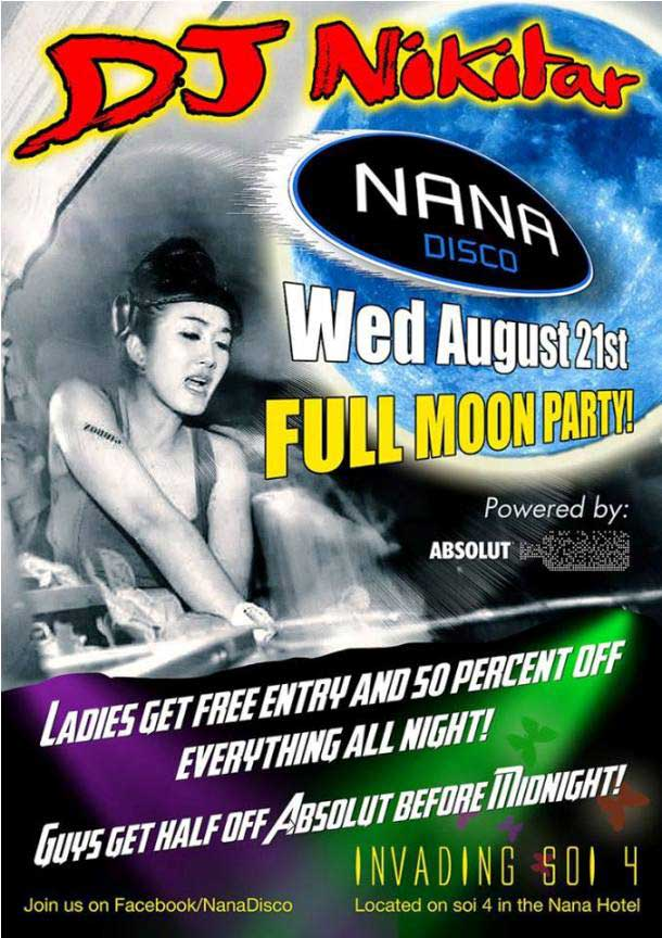 Full Moon Party Nana Disco - Full Moon Party At Nana Disco