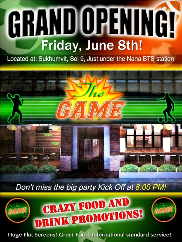 GrandOpeningTheGameSportsBar - The Game Sports Bar Grand Opening
