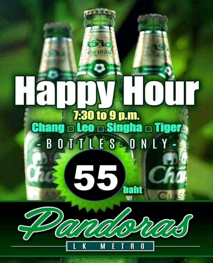 Happy Hour Pandoras Pattaya - Pandoras Pattaya Happy Hour