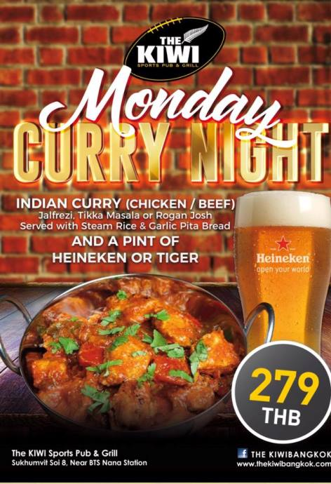 Kiwi Pub Curry Night - Never Hurry A Curry!