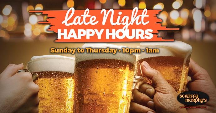 Late Night Happy Hour - Late Night Happy Hours