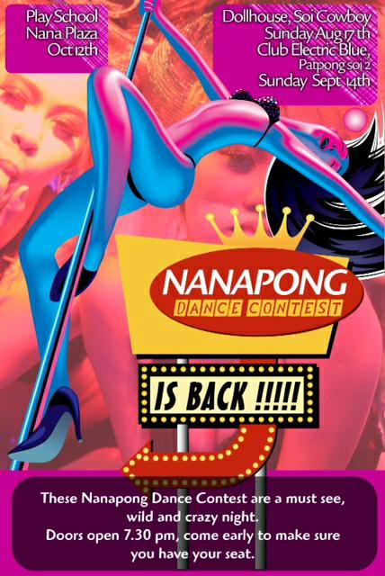 NANAPONG DANCE CONTEST BANGKOK - Party Nights At Patpong GoGo Bars