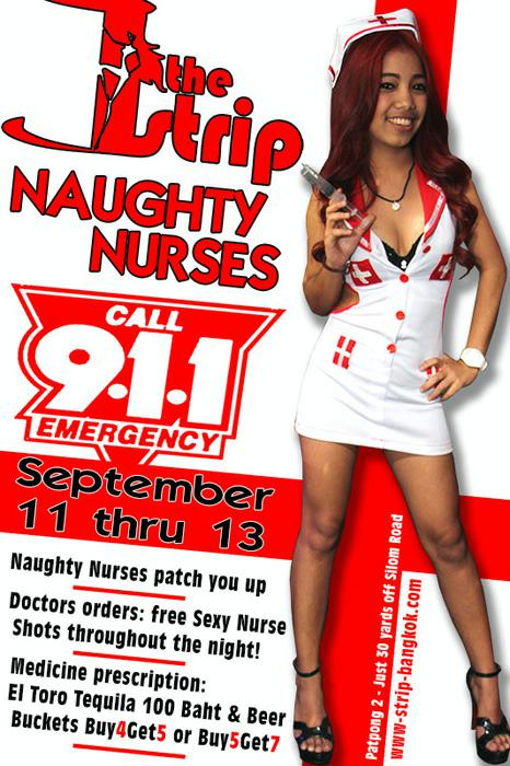 NAUGHTY NURSES THE STRIP PATPONG - Party Nights At Patpong GoGo Bars
