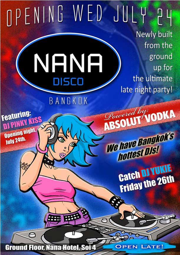 Nana Disco Opening Party - Nana Disco Reopens On Wednesday 24/07/2013