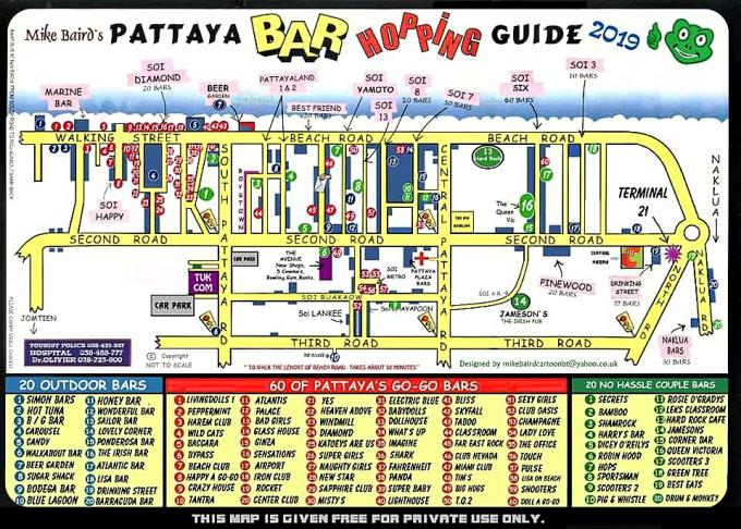 PATTAYA BAR MAP 2019 - Pattaya Bar Guide Maps 2019