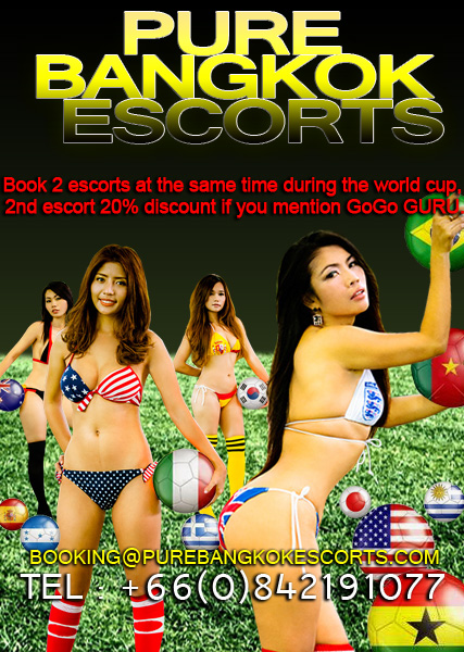 PURE BANGKOK ESCORTS WORLD CUP SPECIAL - Special Discount At Pure Bangkok Escorts During The FIFA World Cup