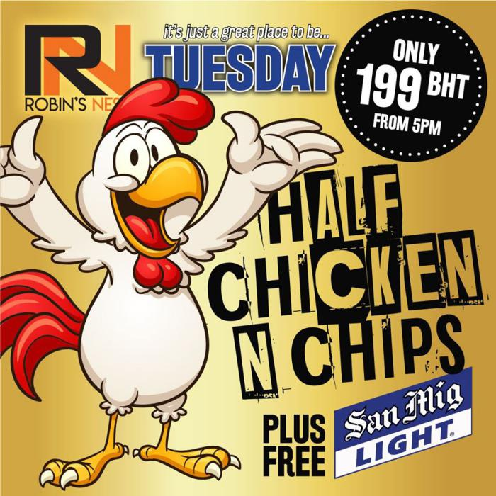 Robins Nest Pattaya 2 - Robins Nest Pub Tuesday Special
