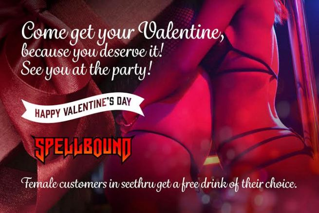 SPELLBOUND VALENTINES PARTY - HOT VALENTINES AT SPELLBOUND