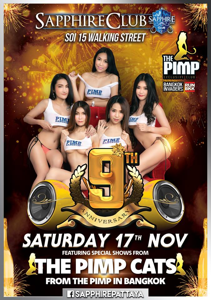 Sapphire Club Anniversary - Pattaya Go-Go Bar Party Time