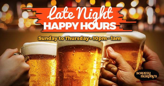 Scruffy Murphys Late Night Happy Hours 1 - Join The Late Night Club!