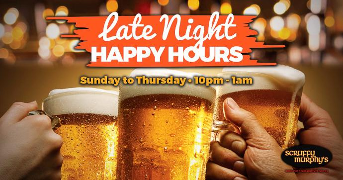 Scruffy Murphys Late Night Happy Hours - Scruffy Murphy's Monday Madness!