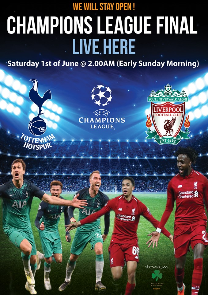 Shenanigans Irish Pub Bangkok - UEFA European Cup Final