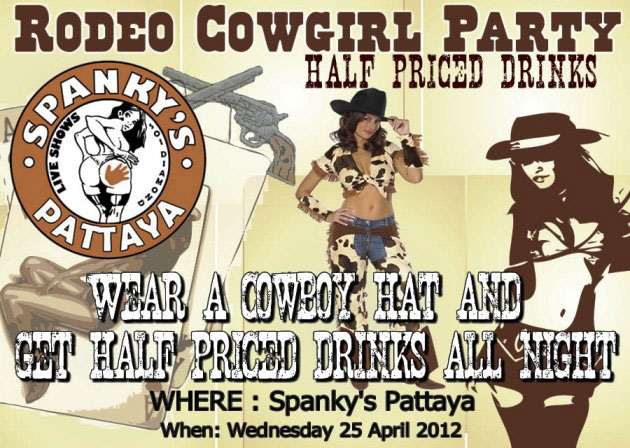 Spankys Agogo Bar Pattaya - Spankys Go-Go Bar Host Rodeo Cowgirl Party