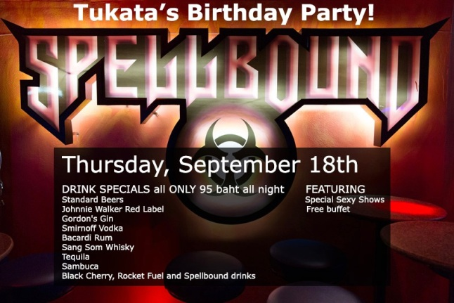 Spellbound Tukata birthday party - Bangkok GoGo Bars Party Nights