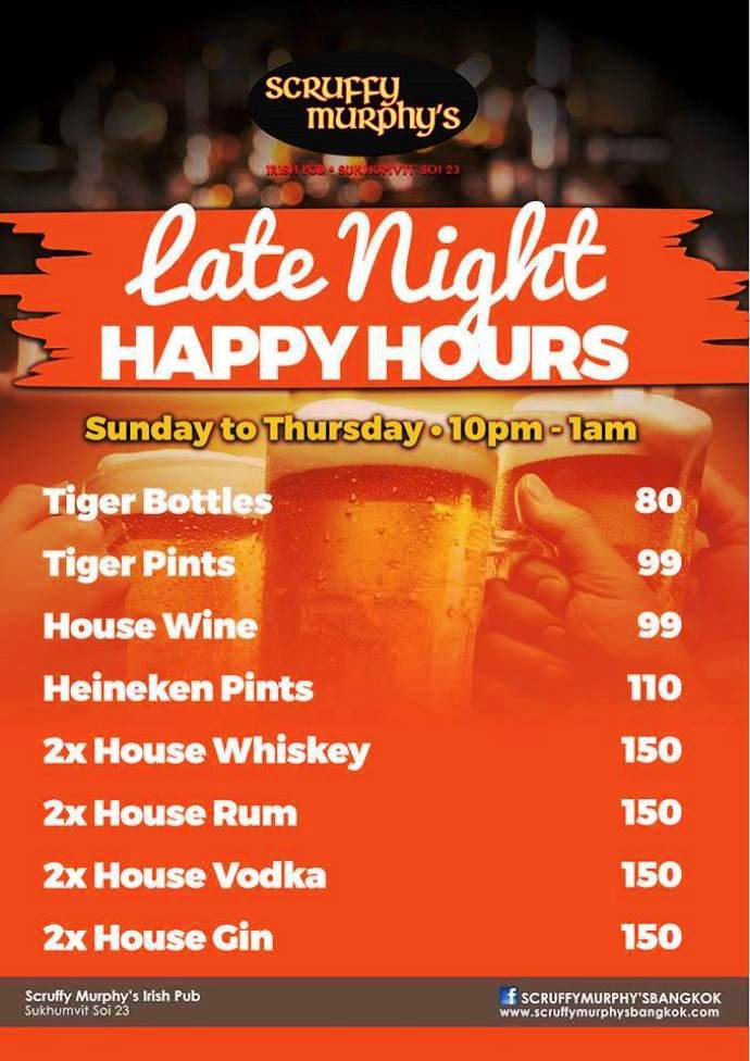 Sruffy Murphys Late Night Happy Hour 1 - Join The Late Night Club!