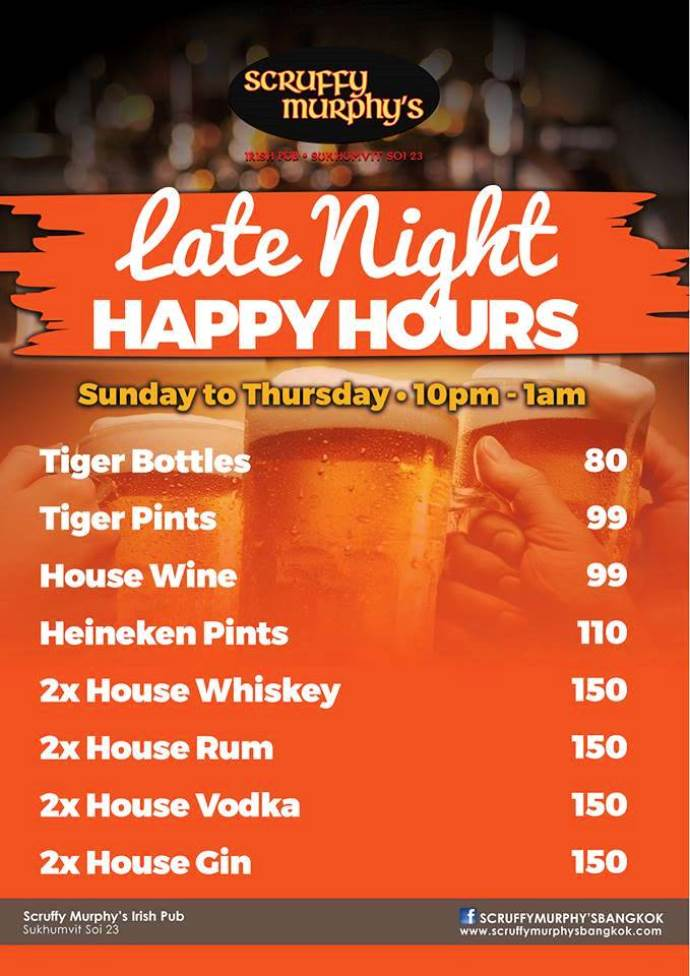 Sruffy Murphys Late Night Happy Hour - Scruffy Murphy's Monday Madness!