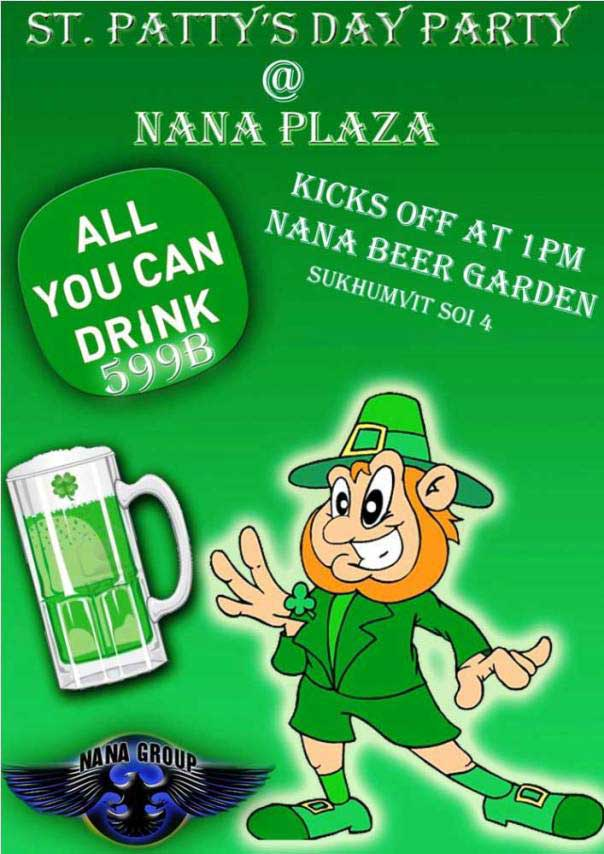 St Patricks Day Party - St. Patricks Day Party At Nana Plaza Beer Garden