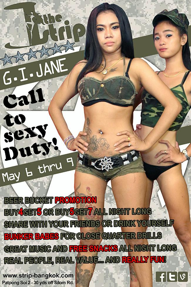 THE STRIP GI JANE - THAI ARMY ON DUTY IN PATPONG