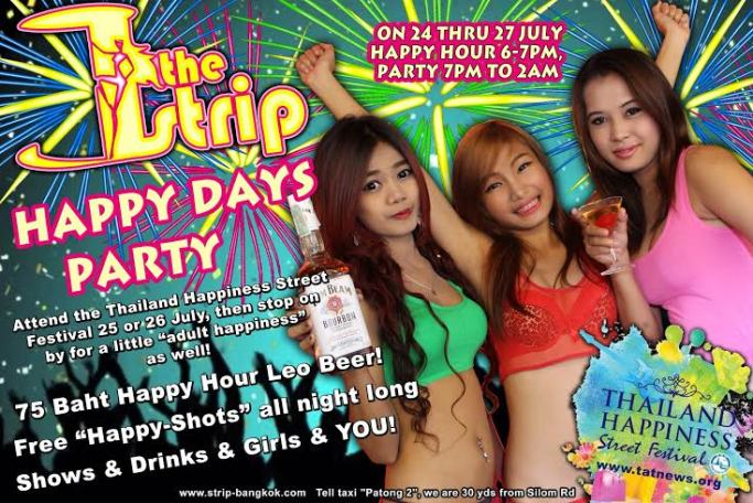 THE STRIP HAPPY DAYS PARTY - Patpong Celebrate Happy Days Party