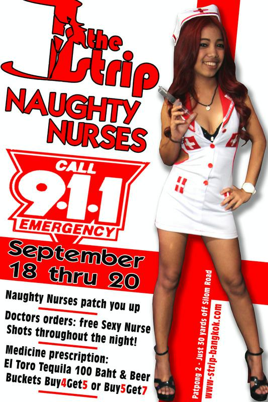 THE STRIP NAUGHTY NURSES  - Bangkok GoGo Bars Party Nights