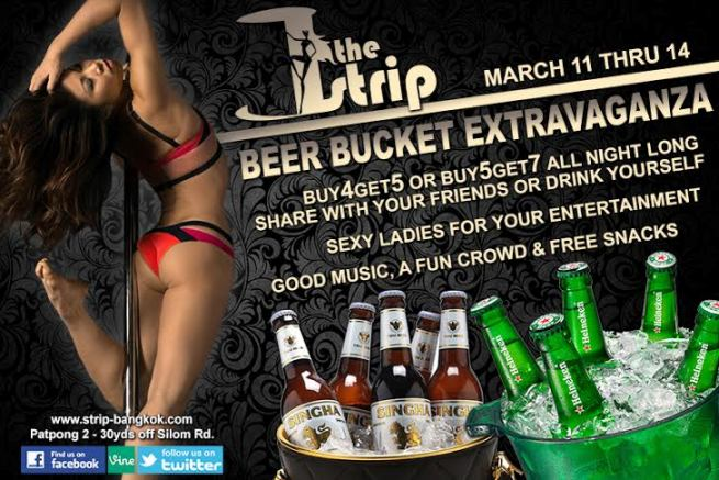 THE STRIP PATPONG BANGKOK3 - BEER BUCKET PROMO AT THE STRIP