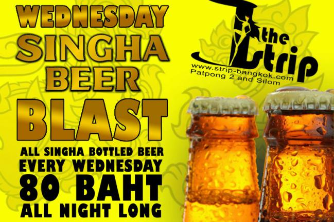 THE STRIP SINGHA BEER BLAST - Party Time At The Strip GoGo Bar