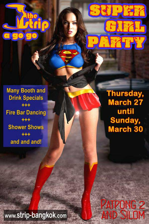 THE STRIP SUPERGIRL PARTY - Supergirl Party At The Strip GoGo Bar