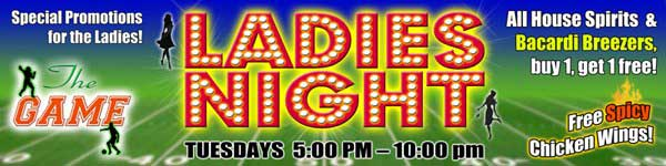 The Game Ladies Night - The Game Sports Bar & Grill Bangkok