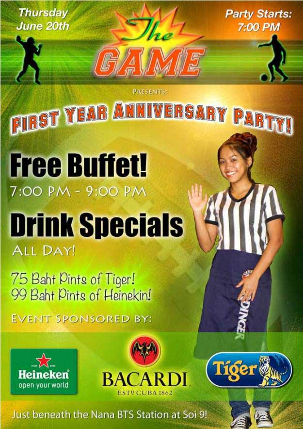 The Game Sports Bar Anniversary Party - The Game Sports Bar Hosts First Anniversary Party