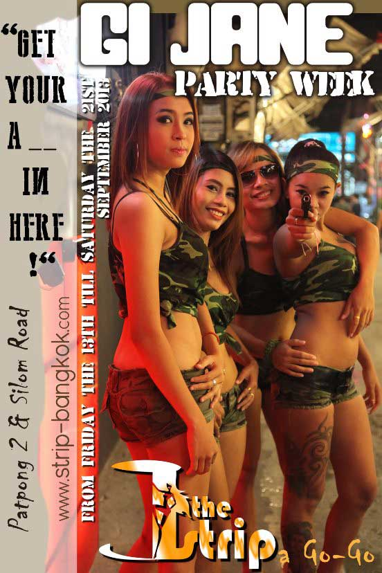 The Strip GI Jane Party - GI Jane Party Week At The Strip In Patpong