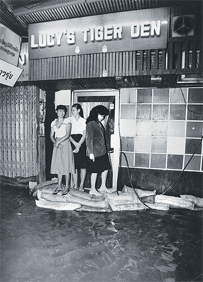 Flooding on Silom many years ago