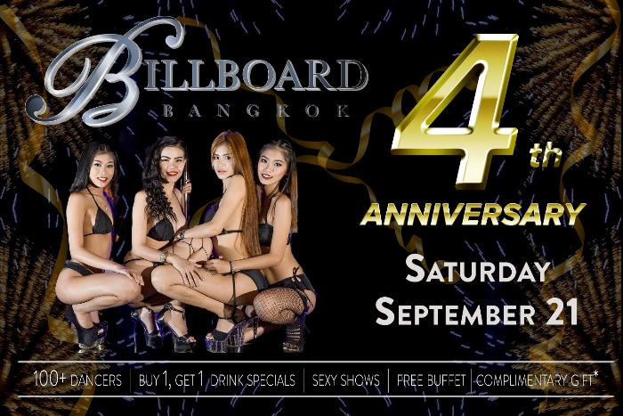 billboard bangkok 2 - Billboard GoGo Bar Anniversary Party
