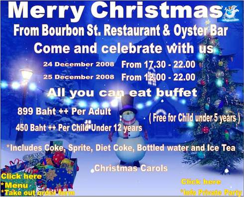 bourbon street christmas buffet - Celebrating Christmas In Bangkok
