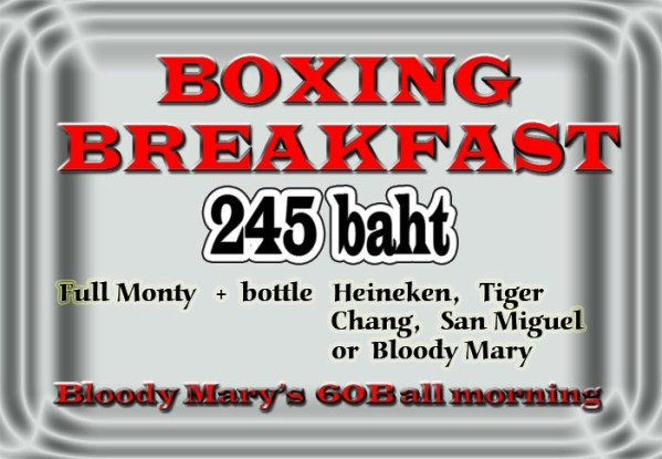 boxing breakfast - Big Fight Live - Mayweather VS Mosley