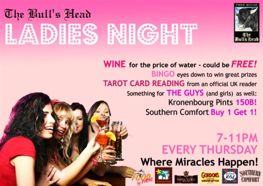 BULL'S HEAD PUB LADIES NIGHT IN BANGKOK