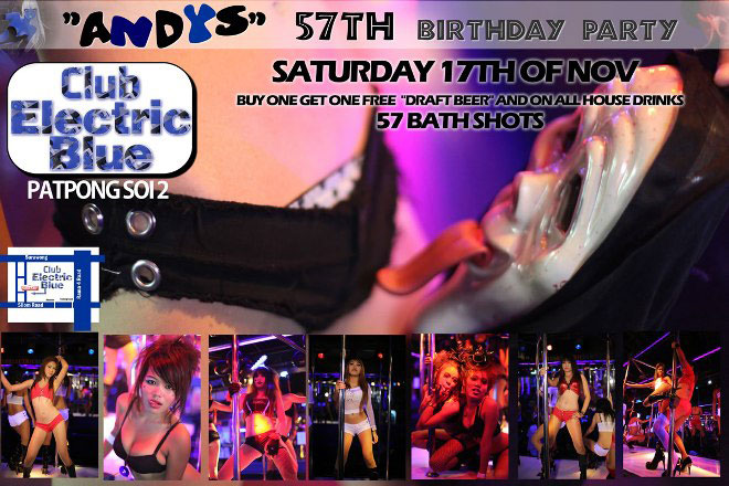 club electric blue patpong - Birthday Party At Club Electric Blue